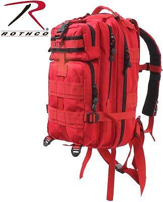 Red Military Medical Level 3 Medium Transport MOLLE Assault Backpack 2977