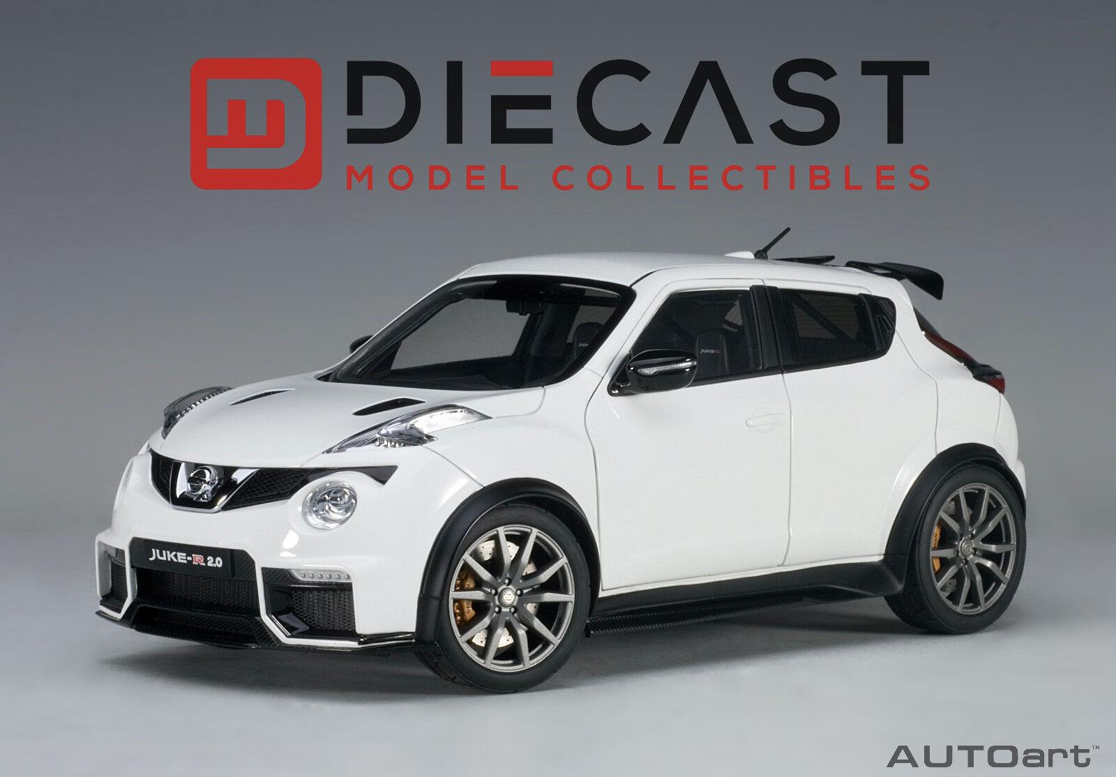 Nissan juke r autoart 77456 2.0 (weiß) 1 18th skala