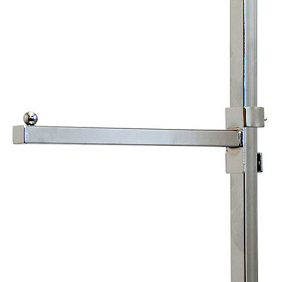 Count of 25 Chrome 12 Inch Straight Gridwall Faceout with 3//4 Inch Square Tubing