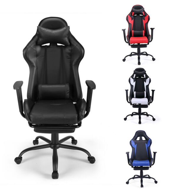 Miraculous Gaming Chair Racing Seat Recliner Adjustable Executive High Back W Footrest Machost Co Dining Chair Design Ideas Machostcouk