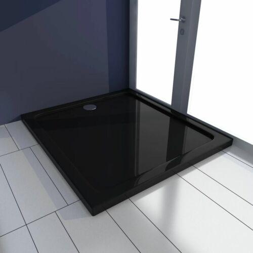 Rechteckiger ABS-Duschwannenboden schwarz 80 x 90 cm