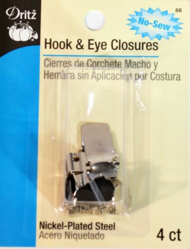 DRITZ No-Sew Hook /& Eye Closures