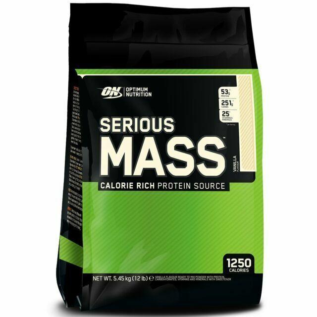 Optimum Nutrition Serious Mass Weight Gainer Protein - Vanil