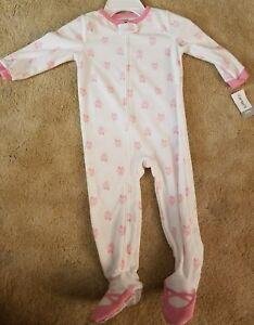ef3894479 Carter s Little Girls  1 Piece Fleece Footed Pajamas