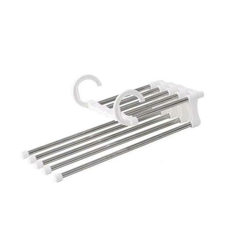 5 in1 Multi-functional Pants rack shelves Stainless Steel Wardrobe Magics Hanger