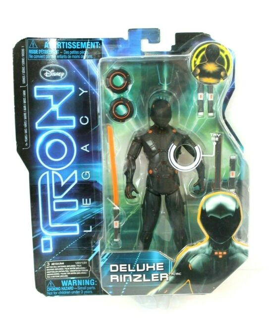 """Tron Legacy Deluxe Rinzler 7"""" Action Figure w/ Light Action Disney Spin Master"""