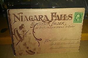 Vintage-Postcard-Souvenir-Folder-Niagara-Falls-20-Color-Views