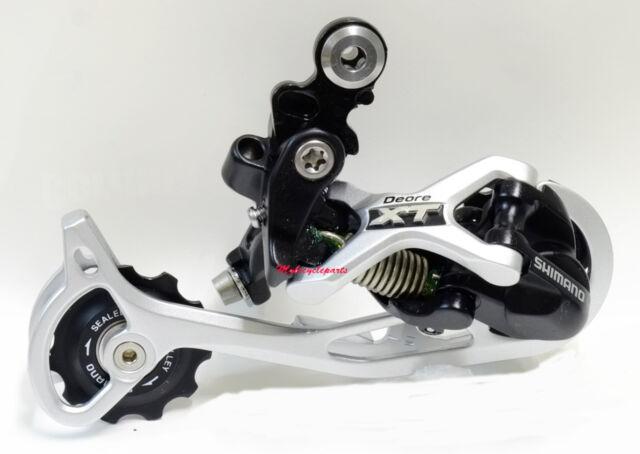 Silver Shimano Deore XT RD-M772-SGS 9-Speed Shadow Rear Derailleur Long Cage