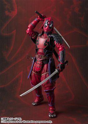 Samurai Deadpool Marvel Kabukimono Manga Realization Collectible Figure In Box