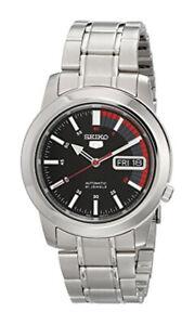 Seiko 5 Automatic SNKK31 SNKK31K1 Men Day Date Black Dial Watch Free Ship
