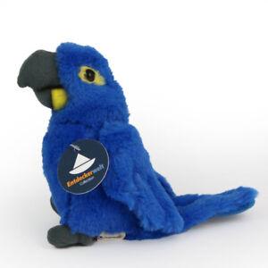 Stofftier-Hyazinthe-Ara-Ara-blau-Papagei-Kuscheltier-Plueschtier-Hoehe-ca-14cm