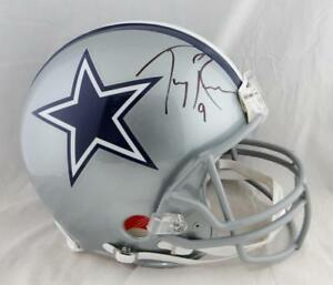 quality design 17b3a b783a Details about Tony Romo Autographed Dallas Cowboys F/S ProLine Helmet-  Beckett Auth *Black