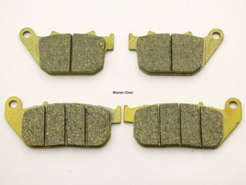 4 Front Rear Brake Pads Fit Harley Davidson XL 883 Sportster STD 2004 2005 2006