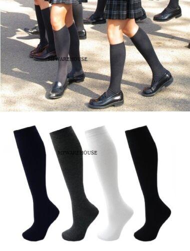 12 Paires Filles École Chaussettes Coton School Uniform Chaussettes Hautes Bow Chaussettes