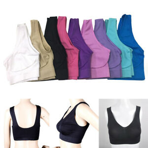Women-Seamless-Yoga-Gym-Sports-Bra-Fitness-Push-Up-Wireless-Vest-Tank-Top-Bra