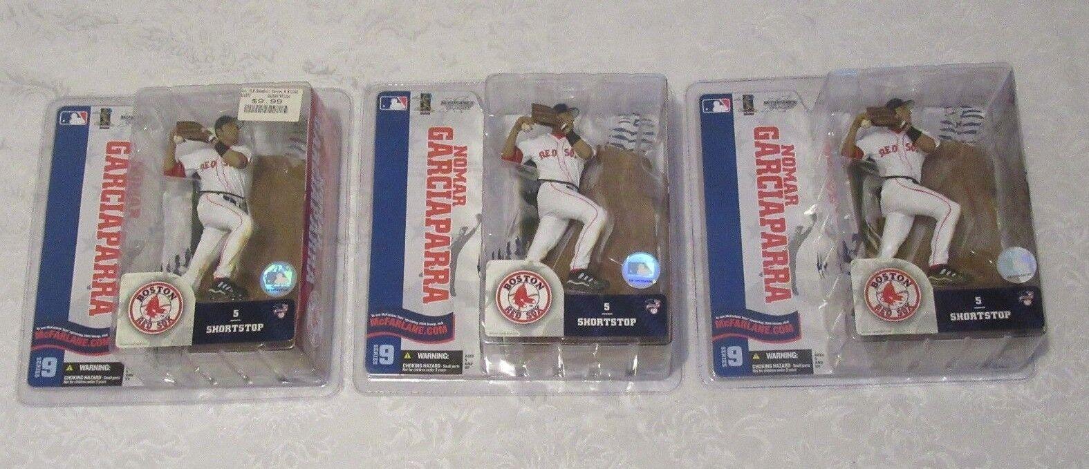 McFarlane MLB Series 9 Nomar Garciaparra Chase Variant Red Sox White Lot of 3