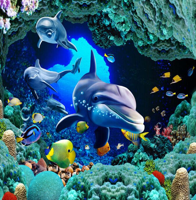 3D Océan 611 Fond d'écran étage Peint en Autocollant Murale Plafond Chambre Art