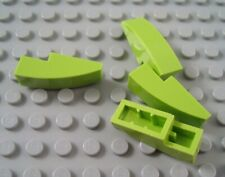 LEGO Lot of 4 Lime Green 3x1 Curved Slope Girls Friends Parts and Pieces