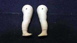 """Antique (pre-1930) Antique Porcelain Legs For Dollhouse Doll Wire Fixing 2.8"""" /germany Vivid And Great In Style Dolls"""
