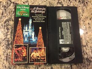 Walt Disney World At Home For The Holidays Like New Vhs Decorating