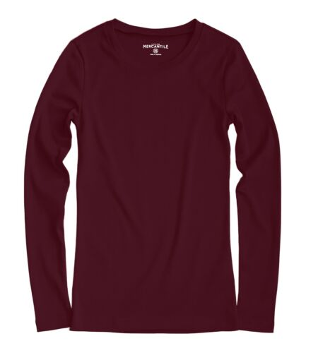 J.Crew Mercantile Plus 2X NWT Garnet Red Fitted Long Sleeve Cotton Crew Tee