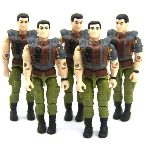 hasbro 5PCS GI JOE G.I. JOE 1993 ROCK 'N ROLL 3.75'' figure collect Toy kid gift