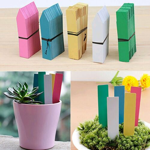 100pcs Stick in Garden Plant Seed Labels Nursery Plastic Stake Tags 10*2cm