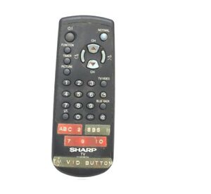 Genuine-SHARP-TV-AV-VCR-Remote-Control-Unit-G1181PESA