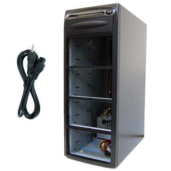 7 Burner (9 Bay) SATA CD DVD Duplicator Copier Enclosure Case Tower Replicator