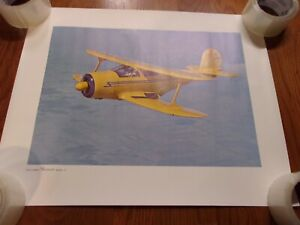 BEECHCRAFT Classic Model 17 Airplane - COLOR POSTER 16 X 20