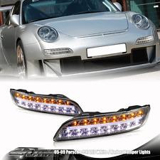 2004-2009 Porsche 911 997 Chrome Housing 2 in 1 LED Signal Parking Bumper Lights