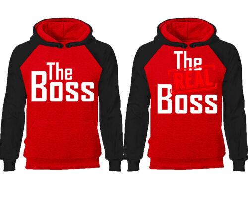 Disney Hoodies His Hers Sweatshirts The Boss and The Real Boss Couple Hoodies