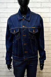 Giubbino-WRANGLER-Donna-Taglia-XL-Cotone-Jeans-Blu-Denim-Jacket-Giubbotto-Jacke