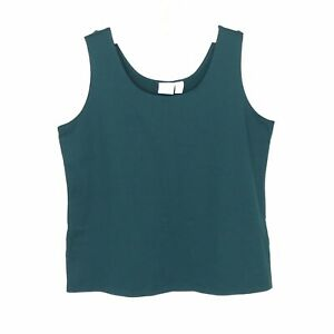 Chico-039-s-Tank-Top-Size-3-XL-Forest-Green-Boxy-Lagenlook-Camisole