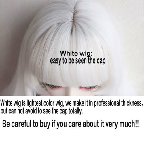 "7-8/"" 1//4 BJD White Curly Wavy Long Wig LUTS Doll SD DZ DOD MSD Soom Volks Hair L"