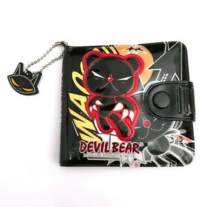 Gothic Horror Anime 80s 90s Goth Punk Emo Devil Bear Black Cat Vinyl Art Wallet