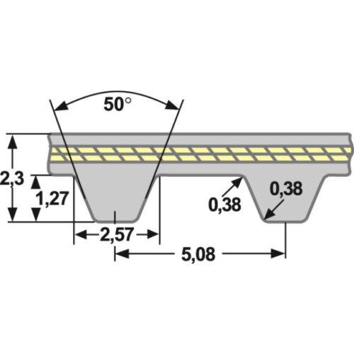 Zahnriemen 114 XL 031 Neoprene zöllig mm Neoprene Glasfaser 5,08 mm Teilung