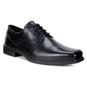 d7e21cc1 Details about ECCO Men's 623534 Johannesburg Black Leather Plain Toe Lace  Up Dress Shoe *NEW*