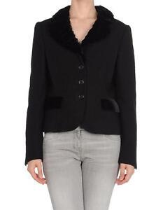 Moschino 44 Wool Black Velvet Jacket 795 Blazer It 10 New q6E85