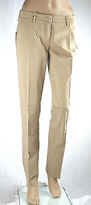Pantaloni Donna MET Regular Fit Made in Italy C331 Gamba Dritta Beige Tg 27