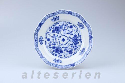 Kuchenteller D 19,5 cm Lindner Porzellan Marie-Luise Alte Ranke blau