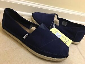 e24047103e5 COMFY NEW MENS TOMS CLASSIC NAVY SUEDE LEATHER SLIP ON SHOES 8.5 M ...