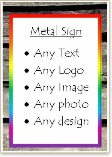 Letrero de metal-Personalizado-Cualquier Texto-Foto-logo-texto - diseño-personalizado Regalo