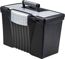 Storex Plastic Hanging File Folder Storage Box Letter Legal Size Black