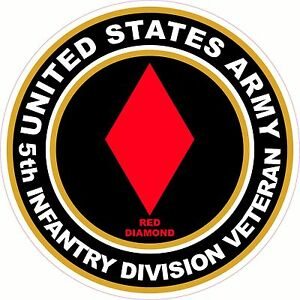 UNITED-STATES-Army-Veteran-5th-Infantry-Division-Decal-Window-Bumper-Sticker