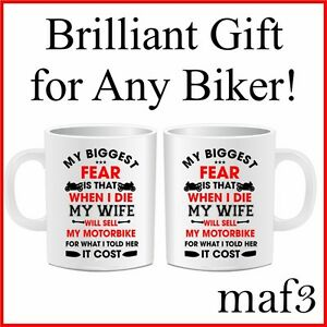 Details About Motorbike Mug Novelty Tea Coffee Present Gifts For Motorcycle Riders Funny Joke