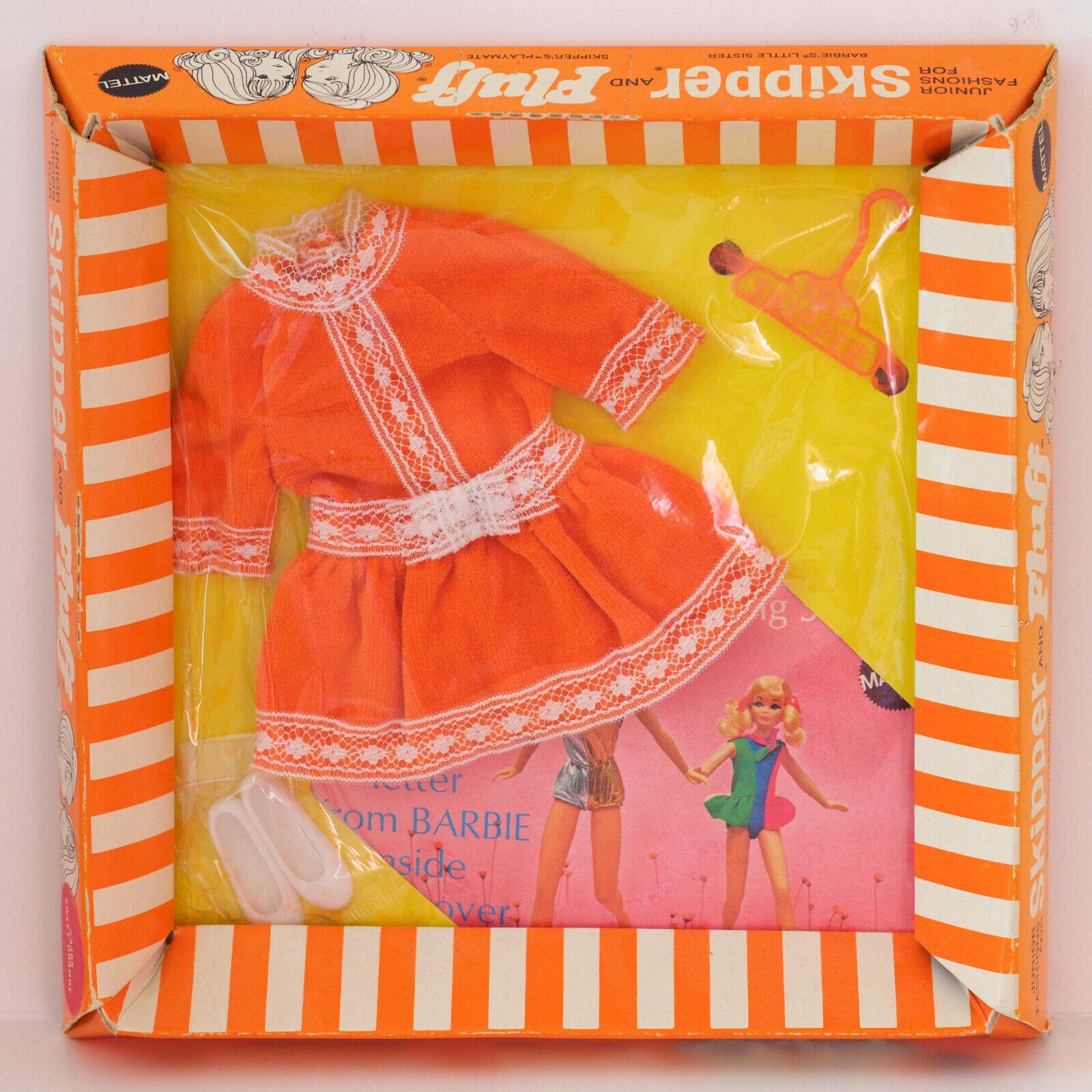 MINT NRFB SKIPPER FASHION  3465  SWEET Orange  Fashion MOC MIB Mattel Vintage