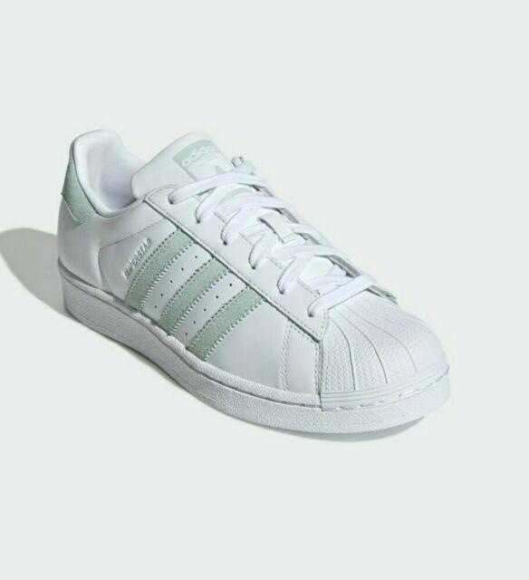Size 8 - adidas Superstar White Vapour Green