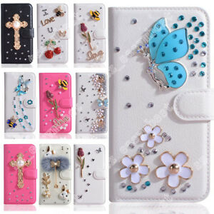 Diamond-Bling-Wallet-Case-Cover-Card-Leather-Shell-DIY-Skin-For-iPhone-X-8Plus-6