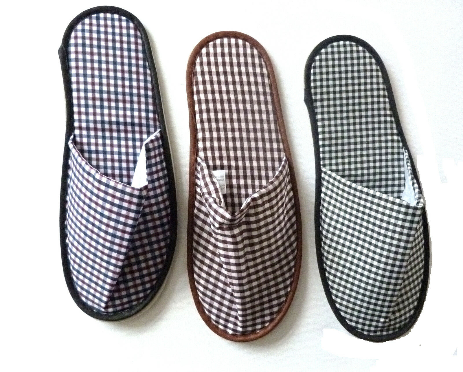 NEW CHECK PATTERN MULE SLIPPERS IDEAL FOR ALL FAMILY MEMBERS MALE FEMALE TEENS